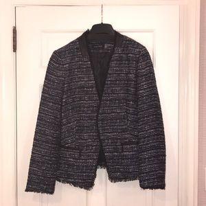 Navy, black and white blazer. Size 12